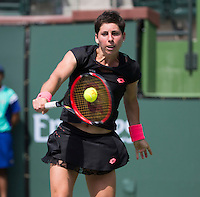 CARLA SUAREZ NAVARRO (ESP)<br /> <br /> Tennis - BNP PARIBAS OPEN 2015 - Indian Wells - ATP 1000 - WTA Premier -  Indian Wells Tennis Garden  - United States of America - 2015<br /> &copy; AMN IMAGES