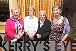 Angela Kerins, Marie Barron, Sarah Colbert, Patricia Canning enjoying the Sliabh Luachra Active Retirement Dinner Dance at Ballygarry House on Sunday