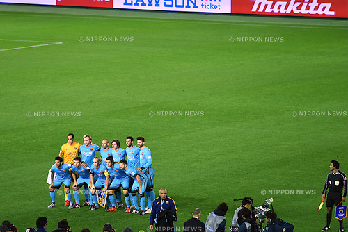 FC Barcelona team group line-up, <br /> DECEMBER 17, 2015 - Football / Soccer : <br /> FIFA Club World Cup Japan 2015 semi-fina match <br /> between FC Barcelona 3-0 Guangzhou Evergrande <br /> at Yokohama International Stadium, Kanagawa, Japan. <br /> (Photo by AFLO SPORT)