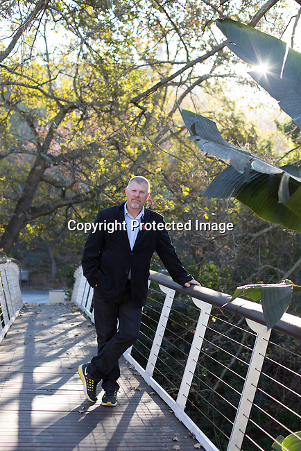 STELLENBOSCH, SOUTH AFRICA - JUNE 6: Bestselling South African Crime author (thriller novelist) Deon Meyer photographed at a wine estate in Stellenbosch outside Cape Town South Africa. Mr. Meyer's books has been translated to 28 languages. (Photo by: Per-Anders Pettersson)