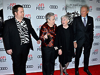"LOS ANGELES, USA. November 21, 2019: Paul Walter Hauser, Kathy Bates, Barbara ""Bobi"" Jewell & Clint Eastwood at the world premiere for ""Richard Jewell"" as part of the AFI Fest 2019 at the TCL Chinese Theatre.<br /> Picture: Paul Smith/Featureflash"