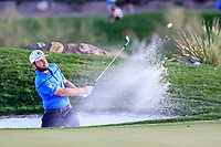 Tyrrell Hatton (ENG)  on the 12th green during the 2nd round of the Waste Management Phoenix Open, TPC Scottsdale, Scottsdale, Arisona, USA. 01/02/2019.<br /> Picture Fran Caffrey / Golffile.ie<br /> <br /> All photo usage must carry mandatory copyright credit (© Golffile | Fran Caffrey)