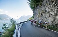 breakaway group descending towards Onno.<br /> <br /> 114th Il Lombardia 2020 (1.UWT)<br /> 1 day race from Bergamo to Como (ITA/231km) <br /> <br /> ©kramon