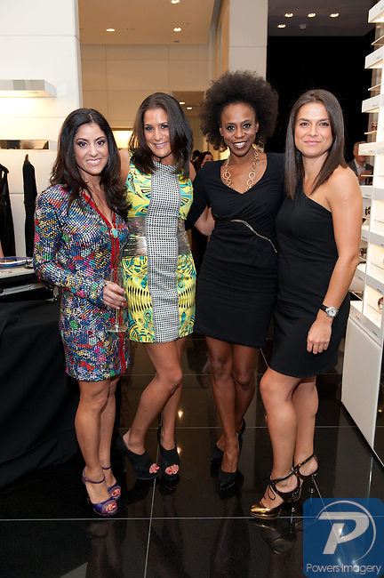 Shannon McBeath, Dana, Stacy Capece Minutolo, Alla Farberov at the Versace Global store at Crystals located in City center for Opportunity Village, September 22, 2010, Las Vegas, NV © Al Powers / Vegas Magazine