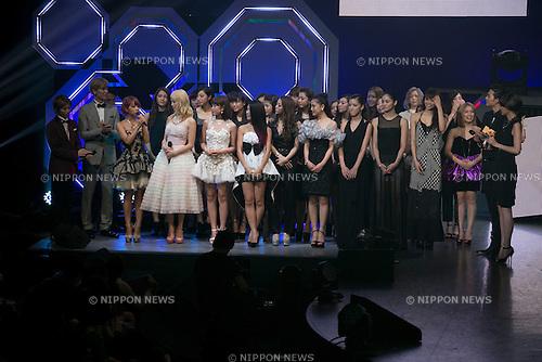 (L to R) Ryohei Chiba, Keita Tachibana, Ryuichi Ogata (w-inds), E-girls, Ryo Ryusei and Kavka Shishido, June 14, 2014 : MTV VMAJ (Video Music Awards Japan 2014 at Maihama Amphitheater in Chiba, Japan. (Photo by Rodrigo Reyes Marin/AFLO)