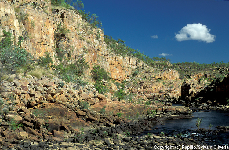 Katherine Gorge, Australia, Nitmiluk National Park is in the Northern Territory, deep gorge carved through ancient sandstone by the Katherine River
