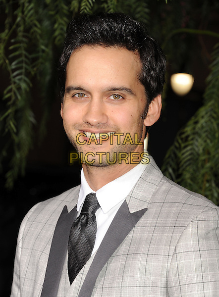 "Michael Steger.arriving at the Los Angeles premiere of ""Beautiful Creatures"" at TCL Chinese Theatre in Hollywood, California, USA, .February 6th, 2013..portrait headshot grey gray suit tie white shirt plaid tartan smiling .CAP/ROT/TM.©Tony Michaels/Roth Stock/Capital Pictures"