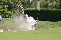 Jodi Ewart Shadoff (ENG) chips from a bunker at the 5th green during Thursday's Round 1 of The Evian Championship 2018, held at the Evian Resort Golf Club, Evian-les-Bains, France. 13th September 2018.<br /> Picture: Eoin Clarke | Golffile<br /> <br /> <br /> All photos usage must carry mandatory copyright credit (&copy; Golffile | Eoin Clarke)