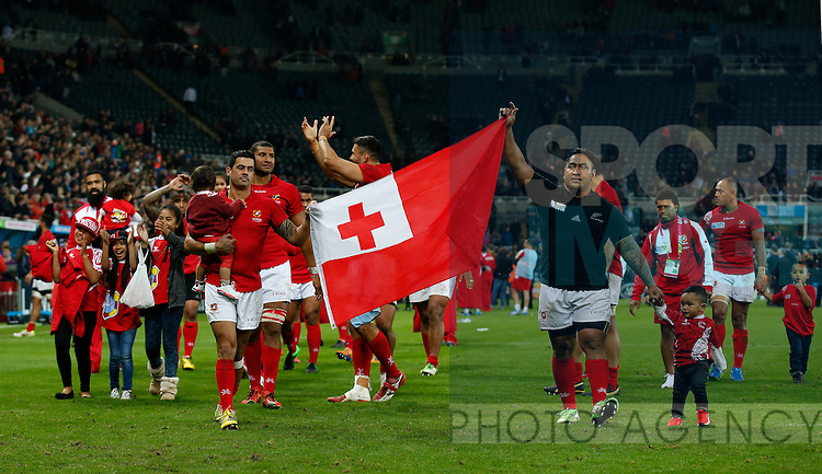 Tonga have a lap of honour as they leave the world cup - Rugby World Cup 2015 - Pool C - New Zealand vs Tonga - St James' Park Stadium - Newcastle - England - 9th October 2015 - Picture Simon Bellis/Sportimage