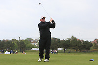Dennis Taylor (AM) playing with Paul Dunne (IRL) on the 10th tee during the Pro-Am of the Betfred British Masters 2019 at Hillside Golf Club, Southport, Lancashire, England. 08/05/19<br /> <br /> Picture: Thos Caffrey / Golffile<br /> <br /> All photos usage must carry mandatory copyright credit (© Golffile | Thos Caffrey)
