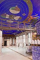 stainless steel tanks decorated ceiling Bodegas Vinas Zamoranas, DO Tierra del Vino de Zamora , Coreses spain castile and leon