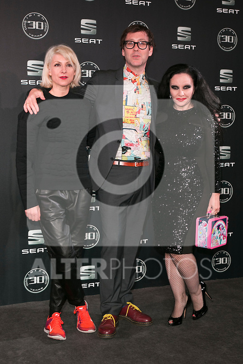 Najwa, Joaquin Reyes and Alaska attends the 30th Anniversary Party Of Seat IBIZA Car at COAM in Madrid, Spain. November 6, 2014. (ALTERPHOTOS/Carlos Dafonte)