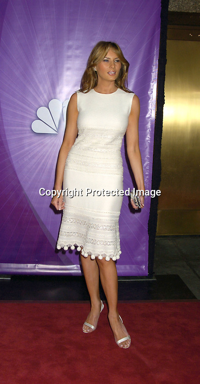 Melania Trump..at The NBC Universal Upfront announcement of their new ..Shows on May 16, 2005 at Radio City Musci Hall. ..Photo by Robin Platzer, Twin Images