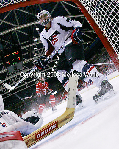 (Wickenheiser) Gigi Marvin (US - 18) - Team USA defeated Team Canada 4-3 (so) to win the 2008 Four Nations Cup on Sunday, November 9, 2008, in the 1980 Rink in Lake Placid, New York.