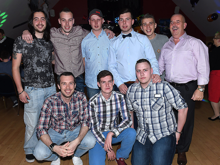 Dean Maguire celebrating his 21st birthday in the Thatch. Photo:Colin Bell/pressphotos.ie