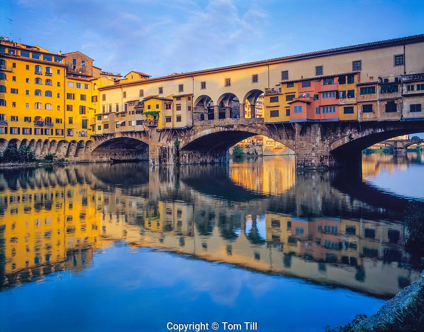 Ponte Vecchio, Florence, Italy, Tuscany Region, One of Europe's most historic bridges, Crosses Arno River