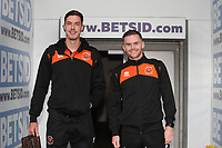 Blackpool's Ben Heneghan and Blackpool's Oliver Turton<br /> <br /> Photographer Rachel Holborn/CameraSport<br /> <br /> The EFL Sky Bet League One - Blackpool v Bradford City - Saturday September 8th 2018 - Bloomfield Road - Blackpool<br /> <br /> World Copyright &copy; 2018 CameraSport. All rights reserved. 43 Linden Ave. Countesthorpe. Leicester. England. LE8 5PG - Tel: +44 (0) 116 277 4147 - admin@camerasport.com - www.camerasport.com
