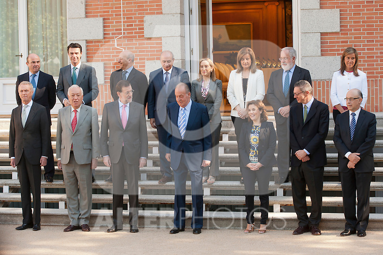 Spain´s King Juan Carlos I in the Presidency of the Council of Ministers. July 13, 2012. (ALTERPHOTOS/Ricky)