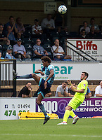Sido Jombati of Wycombe Wanderers during the Sky Bet League 2 match between Wycombe Wanderers and Colchester United at Adams Park, High Wycombe, England on 27 August 2016. Photo by Liam McAvoy.