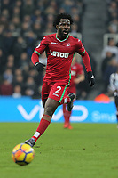 Wilfried Bony of Swansea City in action during the Premier League match between Newcastle United and Swansea City at St James' Park, Newcastle, England, UK. Saturday 13 January 2018