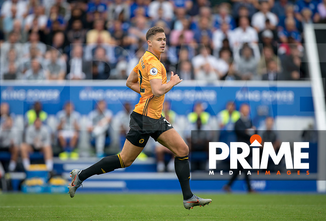 Leander Dendoncker of Wolves during the Premier League match between Leicester City and Wolverhampton Wanderers at the King Power Stadium, Leicester, England on 10 August 2019. Photo by Andy Rowland.