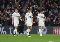 Dejection for Burnley's Jack Cork, Kevin Long and Jeff Hendrick<br /> <br /> Photographer Rob Newell/CameraSport<br /> <br /> The Premier League - Saturday 1st December 2018 - Crystal Palace v Burnley - Selhurst Park - London<br /> <br /> World Copyright &copy; 2018 CameraSport. All rights reserved. 43 Linden Ave. Countesthorpe. Leicester. England. LE8 5PG - Tel: +44 (0) 116 277 4147 - admin@camerasport.com - www.camerasport.com