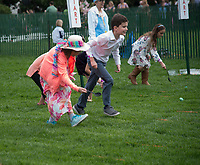 Washington DC, April 17, 2017, USA: Children take part in the Easter Egg roll at the White House. President Donald J Trump and First Lady Melania Trump welcome visitors to the South Lawn of the White House for the 139th Annual Easter Egg roll and event in Washington DC. <br /> CAP/MPI/LYN<br /> &copy;LYN/MPI/Capital Pictures
