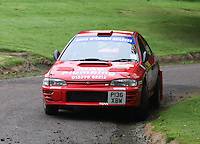 Bruce McCombie / Michael Coutts near Junction 10 on the Gleaner Oil & Gas Cooper Park Special Stage 1 of the Gleaner Oil & Gas Speyside Stages Rally 2012, Round 6 of the RAC MSA Scotish Rally Championship which was organised by The 63 Car Club (Elgin) Ltd and based in Elgin on 4.8.12........