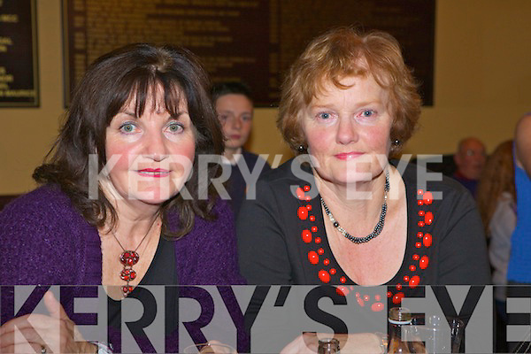 Local ladies Nora Quille and Bridget Woulfe enjoying the music in Fr Casey's GAA, Abbeyfeale for the Annual Gary McMahon singing weekend.