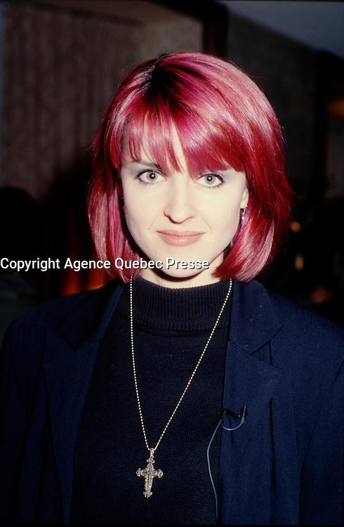 Montreal (Qc) CANADA - file photo circa 1990 - Genevieve Borne, Musique Plus