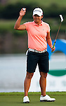 TAOYUAN, TAIWAN - OCTOBER 22: Yani Tseng of Taiwan acknowledges the crowd on the 18th green during day three of the LPGA Imperial Springs Taiwan Championship at Sunrise Golf Course on October 22, 2011 in Taoyuan, Taiwan. Photo by Victor Fraile / The Power of Sport Images