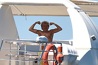 Rod Stewar & wife Penny Lancaster enjoy some family vacation in Saint-Tropez - France
