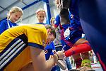 Mannheim, Germany, November 29: During the Bundesliga indoor women hockey match between Mannheimer HC and TSV Mannheim on November 29, 2019 at Irma-Roechling-Halle in Mannheim, Germany. Final score 4-4. Lisa Schneider #21 of Mannheimer HC<br /> <br /> Foto © PIX-Sportfotos *** Foto ist honorarpflichtig! *** Auf Anfrage in hoeherer Qualitaet/Aufloesung. Belegexemplar erbeten. Veroeffentlichung ausschliesslich fuer journalistisch-publizistische Zwecke. For editorial use only.