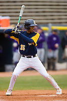 James Howard #15 of the North Carolina A&T Aggies at bat versus the High Point Panthers at War Memorial Stadium March 16, 2010, in Greensboro, North Carolina.  Photo by Brian Westerholt / Four Seam Images