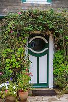 Royaume-Uni, îles Anglo-Normandes, île de Sark (Sercq) : Hôtel-Restaurant: La Sablonnerie    sur Little Sark aprés la Coupée - Détail porte d'une chambre  // United Kingdom, Channel Islands, Sark Island (Sercq): Hotel-Restaurant: La Sablonnerie - Elizabeth Perree