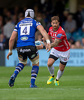 Gloucester Rugby's Danny Cipriani in action during todays match<br /> <br /> Photographer Bob Bradford/CameraSport<br /> <br /> Gallagher Premiership - Bath Rugby v Gloucester Rugby - Saturday September 8th 2018 - The Recreation Ground - Bath<br /> <br /> World Copyright &copy; 2018 CameraSport. All rights reserved. 43 Linden Ave. Countesthorpe. Leicester. England. LE8 5PG - Tel: +44 (0) 116 277 4147 - admin@camerasport.com - www.camerasport.com