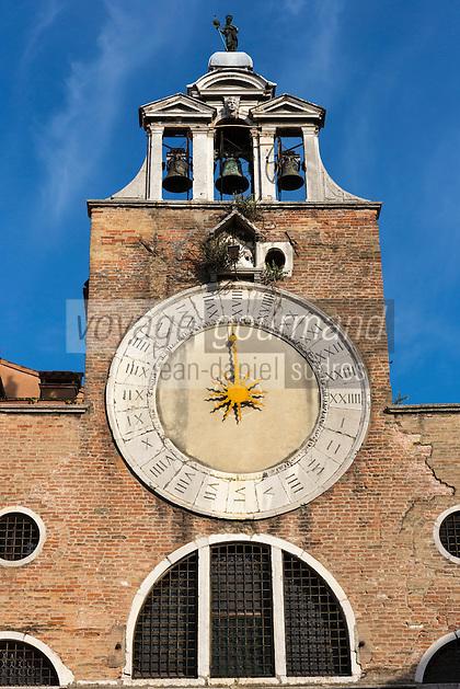 Italie, Vénétie, Venise:  L'église Saint-Jacques-du-Rialto ou San Giacometto se situe dans le quartier de San Polo.   // Italy, Veneto, Venice:  San Giacomo di Rialto  church in the sestiere of San Polo
