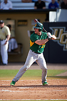 Siena Saints catcher Patrick Ortland (27) at bat during a game against the UCF Knights on February 21, 2016 at Jay Bergman Field in Orlando, Florida.  UCF defeated Siena 11-2.  (Mike Janes/Four Seam Images)
