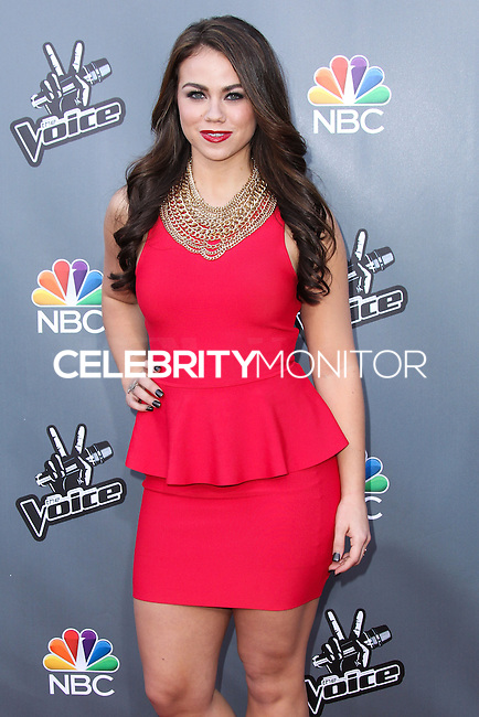"UNIVERSAL CITY, CA, USA - APRIL 15: Tess Boyer at NBC's ""The Voice"" Season 6 Top 12 Red Carpet Event held at Universal CityWalk on April 15, 2014 in Universal City, California, United States. (Photo by Xavier Collin/Celebrity Monitor)"