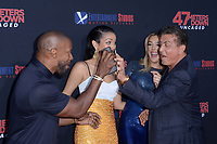 """LOS ANGELES - AUG 13:  Jamie Foxx, Corinne Foxx, Sistine Rose Stallone, Sylvester Stallone at the """"47 Meters Down: Uncaged"""" Los Angeles Premiere at the Village Theater on August 13, 2019 in Westwood, CA"""