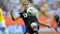 Alex Morgan during the FIFA Women's World Cup at the FIFA Stadium in Dresden, Germany on July 10th, 2011.