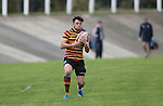 Quins full back Steff Evans.<br /> British &amp; Irish Cup<br /> Carmarthen Quins v Leinster A<br /> Carmarthen Park<br /> 25.10.14<br /> &copy;Steve Pope-SPORTINGWALES