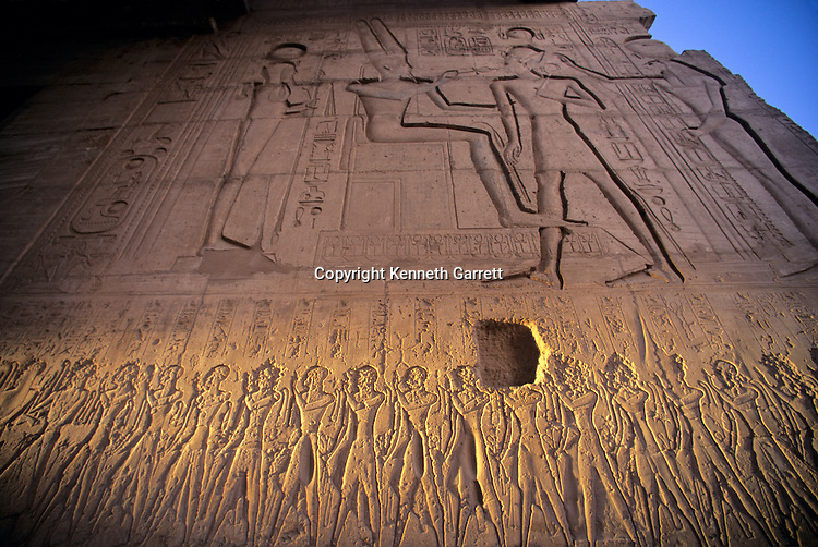 Egypt's Valley of the Kings, Ramses II Royal Temple outside the Valley decorated with his sons beneath him attacking the Hittites