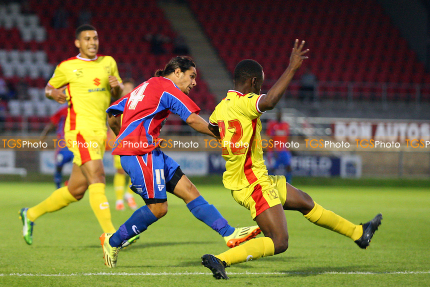 Bradley Goldberg of Dagenham - Dagenham and Redbridge vs MK Dons, pre season friendly - 22/07/14 - MANDATORY CREDIT: Dave Simpson/TGSPHOTO - Self billing applies where appropriate - 0845 094 6026 - contact@tgsphoto.co.uk - NO UNPAID USE