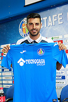 Getafe's new players Bruno Gonzalez and Angel Rodriguez.