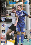 Official programme for Peterhead v Rangers on the 20th January 2013