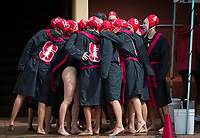 Stanford, CA - March 8, 2020: Team at Avery Aquatic Center. The No. 2 Stanford Women's Water Polo team beat the No. 6 Arizona State Sun Devils 9-8.
