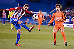 Atletico de Madrid's Juanfran Torres and SD Eibar's Adrian Gonzalez during Copa del Rey match between Atletico de Madrid and SD Eibar at Vicente Calderon Stadium in Madrid, Spain. January 19, 2017. (ALTERPHOTOS/BorjaB.Hojas)