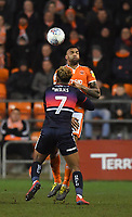 Blackpool's Curtis Tilt battles with Doncaster Rovers' Mallik Wilks<br /> <br /> Photographer Dave Howarth/CameraSport<br /> <br /> The EFL Sky Bet League One - Blackpool v Doncaster Rovers - Tuesday 12th March 2019 - Bloomfield Road - Blackpool<br /> <br /> World Copyright © 2019 CameraSport. All rights reserved. 43 Linden Ave. Countesthorpe. Leicester. England. LE8 5PG - Tel: +44 (0) 116 277 4147 - admin@camerasport.com - www.camerasport.com