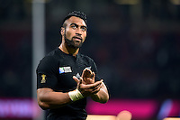 Victor Vito of New Zealand acknowledges the crowd after the match. Rugby World Cup Pool C match between New Zealand and Georgia on October 2, 2015 at the Millennium Stadium in Cardiff, Wales. Photo by: Patrick Khachfe / Onside Images